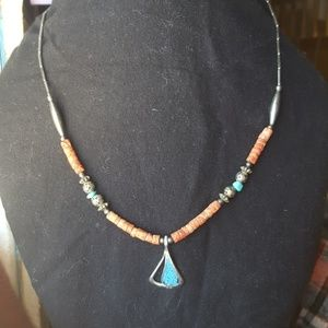 Vintage turquoise & coral necklace